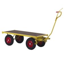 Ravendo transportvogn TW1500, 70 x 150 cm, massive hjul