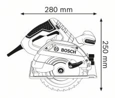 Bosch rundsav GKS 165 Professional