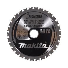 Makita rundsavklinge, Ø136/20 mm, 30 td., cordless, til meta