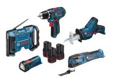 Bosch akkusæt 12V med GSR, GLI, GBP, GOP, GSA, 3x2,0 Ah