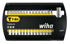 Wiha bitssæt Y-bits 25 mm, gul, PH/PZ/TX, 31 dele
