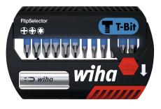 Wiha Professional bitssæt T-bits 25 mm, blå, TX/PH/PZ, 13 de