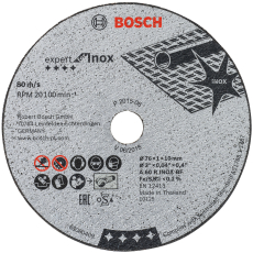 Bosch skæreskive Expert til INOX, Ø76/10 mm x 1 mm, 5 stk.