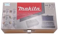 Makita fræserjern, sæt med 6 stk.