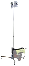 Lystårn med Pramac generator, 4,2 m, 4x1000 W