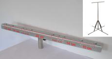 4-fods stativ til arbejdslamper, 2,0 til 6,0 m