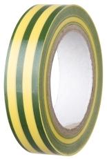 Isolerbånd 15 mm x 10 m, grøn/gul