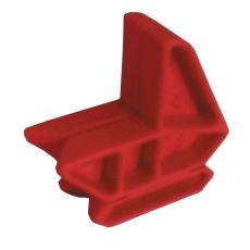 Snorholder, rød plast - sæt