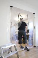 Cover dør i plastfolie med lynlås, XL U-åbning