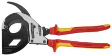 KNIPEX kabelsaks, 320 mm, 1000 V, skraldeprincip
