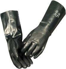 PVC-handske, grøn, heldyppet, 40 cm