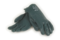 PVC-handske, grøn, heldyppet, 27 cm