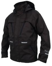 Abeko kraftig, åndbar, sort regnjakke, model ROCKY, str. XL