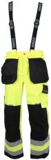 Abeko åndbar regnbuks, model ÅBO, gul/sort, EN 20471, kl. 2,