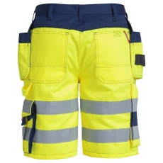 FE Engel shorts 6502, hængelommer, EN 20471 gul marine, Str.