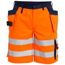 FE Engel shorts 6502, hængelommer, EN 20471 orange marine, 8