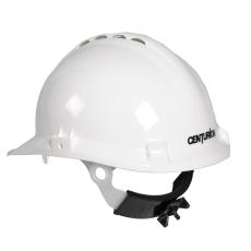Centurion sikkerhedshjelm med nakkeskrue, hvid