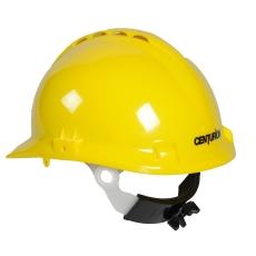 Centurion sikkerhedshjelm med nakkeskrue, gul
