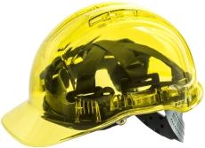 Portwest PV54 gennemsigtig letvægtssikkerhedshjelm, gul