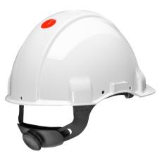 Peltor G2000 sikkerhedshjelm, hvid, med nakkeskrue