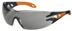 Sikkerhedsbrille Uvex Pheos, orange/sort med grå linse