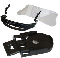 Komplet visirløsning til hjelmmontering, Balance og Centurio