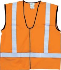 Advarselsvest kl. 3, orange, str. XL