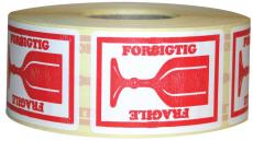 Etiketter, Forsigtig/Fragile, 46 x 65 mm, 1000 stk.