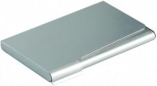 Visitkortholder til 20 kort, aluminium med sølvfinish