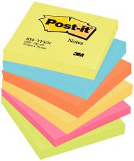 Post-it Notes, neon rainbow, 76 x 76 mm, 6 stk.