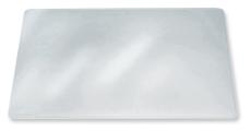 Skriveunderlag, 50 x 65 cm, refleksfri klar PVC-plast