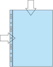 Lyreco plastomslag, A4, åbning i top og langs hulkant