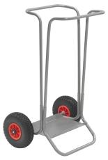 Ravendo affaldsvogn med punkterfrie hjul
