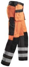 Snickers buks 3233 med hylsterlommer EN 471, orange klasse 2