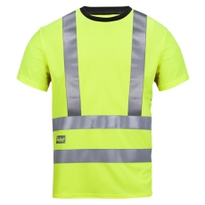 Snickers T-shirt, high-vis, 2543, str. L, gul, klasse 2/3