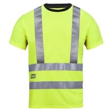 Snickers T-shirt, high-vis, 2543, str. 2XL, gul, klasse 2/3
