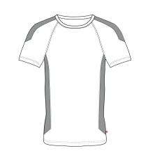 ID PRO Wear T-shirt med kontrast farve, 0302 silver grå str.