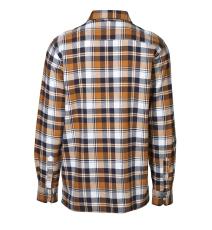 ID Green Leaf ternet skjorte med tryknapper, orange, 0204,