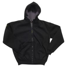 Casual hættetrøje, jersey, sort, str. 2XL
