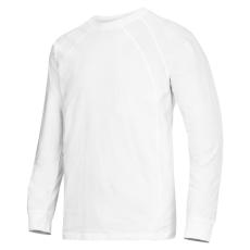 Hvid langærmet T-shirt str. 3XL