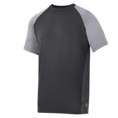 Snickers AVS T-shirt grå/sort, str. L