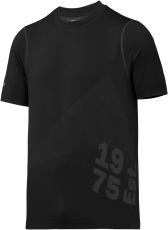 Snickers T-shirt 2519 FlexiWork 37.5, sort, str. 2XL