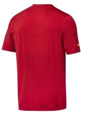 Snickers T-shirt 2519 FlexiWork 37.5® med print, rød, Str. L