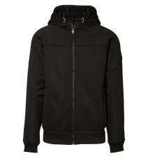 ID bondet cardigan med hætte, sort, 0635, Str. XL