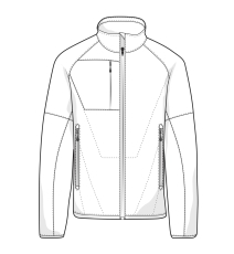 ID åndbar, vind- og vandafvisende Combi jakke, sort, 0770, s