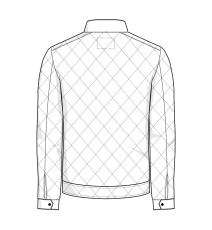 ID quiltet jakke, 100 % polyester, 0730, marine, str. S