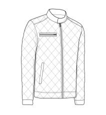 ID quiltet jakke, 100 % polyester, 0730, marine, str. XL