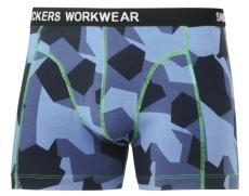Snickers boxershorts 9436, blå camuflage, 2-pak, Str. S
