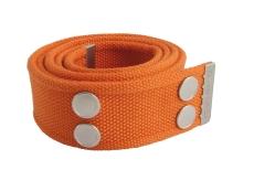 Dunderbon kanvasbælte BE01, orange/sort 105 cm