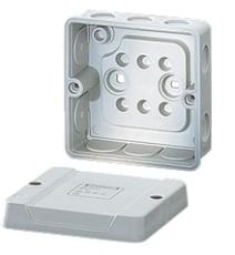 Membrandåse 2,5 mm² uden klemme grå
